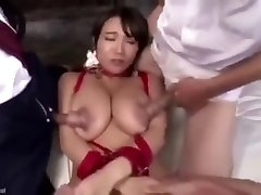 Fucking her nipples make her spray