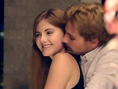 Romantic dinner with beautiful Miley Cole ends up with steaming rear end sex