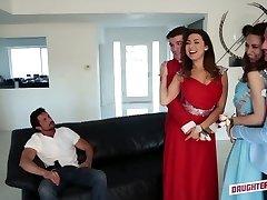Quite buxom Latina hottie Melissa Moore swaps her partner for swinger fuck