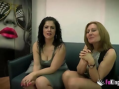 Nuria and Montse's 3 way with Julian's meatpipe