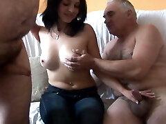 Elderly Men vs Young Hottie