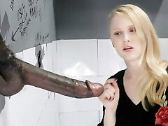 Lily Rader Deep-throats And Fucks Big Black Dick - Gloryhole