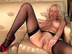 Sam is so kinky in her nylons and heels