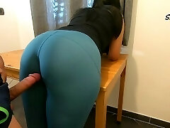 Step Mom teases, rubs because she just wants to be nailed by her Step Son-in-law again, luvs cock too much