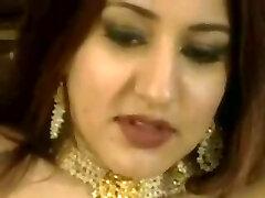 Arabian princess jazdy biely kohút a miluje análny