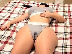 Stepbros hard cock wakes up kinky Teenage Stepsister after seeing her WET pussy