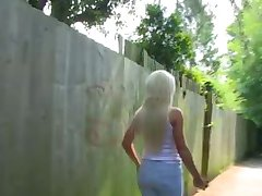 PornXN big tits blonde Lexi Ryder pissing in public