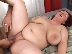 Fat girl with hairy pussy fucked