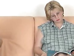 Pregnant Blonde With Glasses