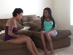 Double Ebony Foot Worship