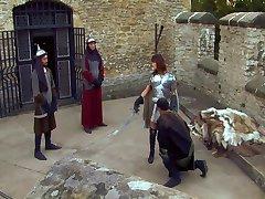 Theodora Ferreri - Fucked by 3 Guys Outdoors (Castle)