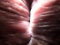Close-up p.o.v. shemale sucking, fucking and creampied