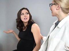 Sadie Holmes Pregnant - Doctor helps her patient to reach Orgasm