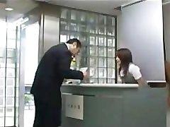 Fucking hot asian receptionist