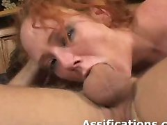 Horny brunette gets fucked in her tight butt