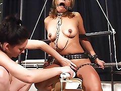 Enhancing an orgasm with bondage