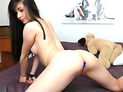 Sexy Brunette Striptease, Long Hair, Hair