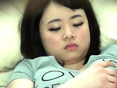 Chubby asian spied on