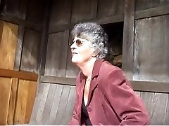 Loveley Grandma Flashes The Tatoowed Gardener Her Flowers