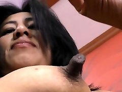 Latina cougar Veronica plays with her 1 inch nips