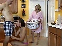 Daughter Sucking Manhood in Kitchen