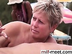 Swingers at the Nudist Beach - Cooter from Cougar-MEET.COM