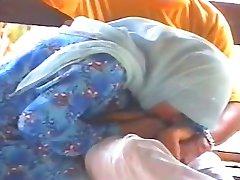 malajiešu-tudung hijab baju kurung bj kat pondok