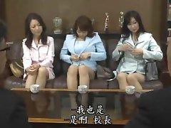 Japon MILF Öğretmen Orgy