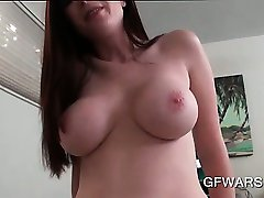 Big titted ex-GF riding shaft and getting banged doggy in POV