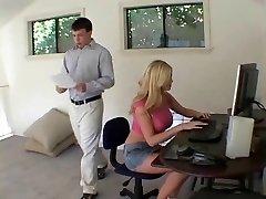 light-haired secretary