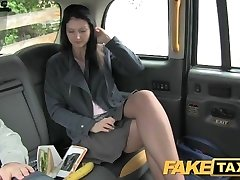 FakeTaxi Black-haired exhibitionist enjoys cameras