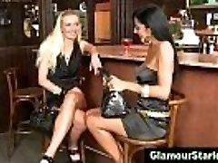 Super Hot clothed lesbians get dirty