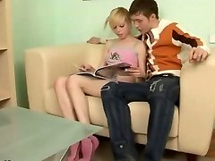Russian platinum-blonde teen Alisa
