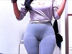 Cameltoe Stretch Pants Ash Claudiahotpants
