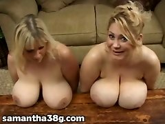 2 Big Tit MILFS Shake Fun Bags and Rub Nipples
