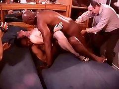 White Hotwife in a Room Full of Ebony Bulls