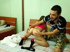 College-aged year old girl gets her vulva eaten by her boyfriend