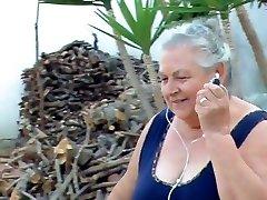 Bbw italian Granny Calls Grandpa to fuck