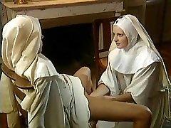 Old-school Lesbian Nuns -  Superb Fisting
