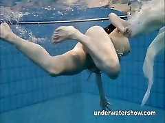 Andrea demonstrates nice body underwater