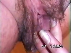 michelle shoving her knuckle up her meaty hairy