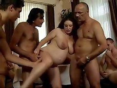 daddy's Friends Gang-bang his preggie daughter