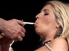 Smoking milf rides a nice manhood