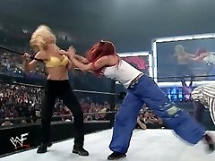 trish and lita vs stacey and torrie grappling divas hooter-sling and undies match
