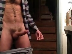 Hairy Hunk Jerks off & Ejaculates