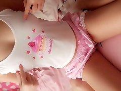 Super cute school teen likes cam her pink cake snatch to u