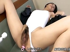 Huge slit Asian bitch gets toy fucked strongly