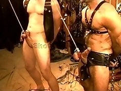 Five man sensual CBT, BDSM orgy featuring teddies and hunks. pt 1