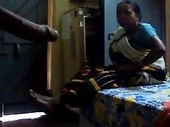 Displaying dick to Satin maid