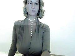 Sexy Platinum-blonde Striptease on my webcam